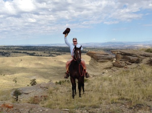 This is Denny. He digs horses and Wyoming.