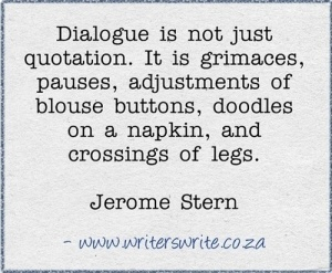 Say What? Some Words About Dialogue, That's What