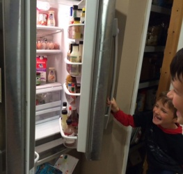 Did you guys look in the fridge?