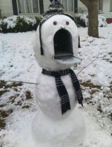 mailbox snowman