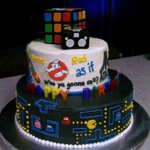 This cake is to remind you of the things that were once cool. Like you.