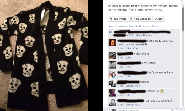 sweater facebook