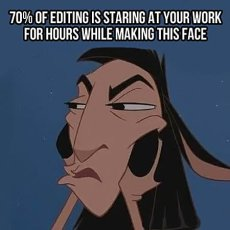 Get Out Of The Incessant Editing Loop