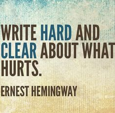 write what hurts